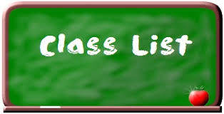 Class Lists & Registration for 2019-2020 School Year