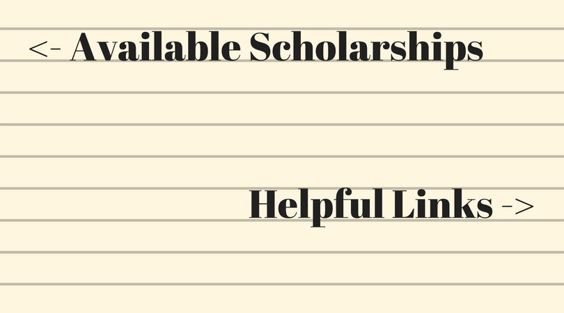Available Scholarships and Helpful Links