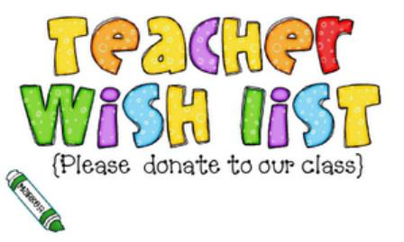 Teacher Wish List - Clipart