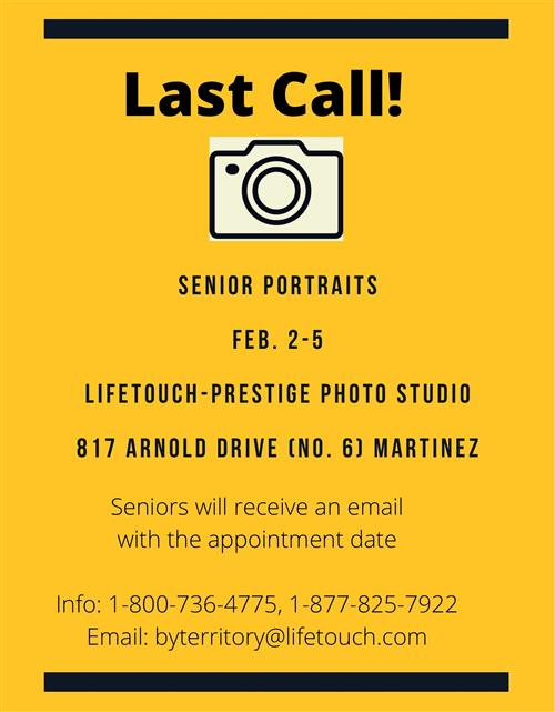 Last call for senior portraits
