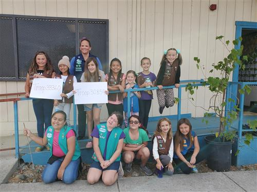 Thank you Troop 30854 & 33360
