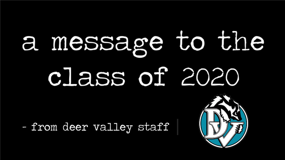 DV Staff Congratulate the class of 2020
