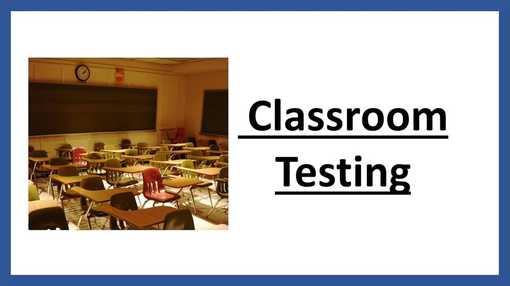 Classroom Testing Title
