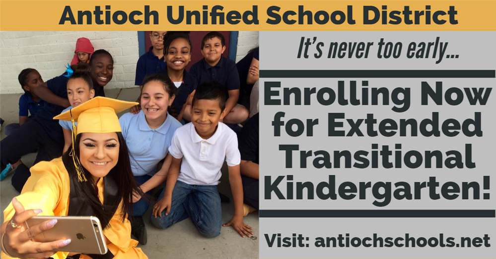 It's never too early. . .  Enrolling now for Extended Transitional Kindergarten